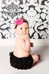 Black Chiffon Ruffle Diaper Cover